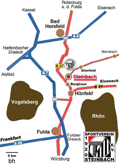 Steinbach-Anreisekarte